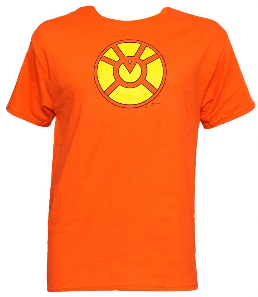 e0cfe77af868 Officially Licensed DC Comics Orange Lantern Symbol T-Shirt - Gravity  Trading