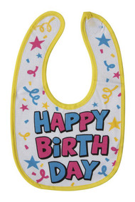 Vinyl Baby Bib Happy Birthday