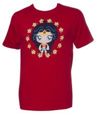DC Wonder Woman Cutie Mens Red T-Shirt