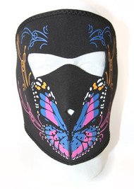 Colorful Butterfly Neoprene Face Mask