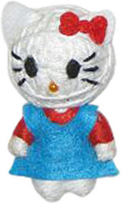 "Officially Licensed Hello Kitty In A Blue Dress 2.5"" String Doll Keychain"