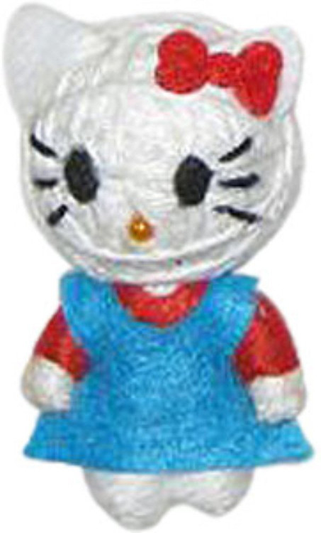 """Officially Licensed Hello Kitty In A Blue Dress 2.5"""" String Doll Keychain"""
