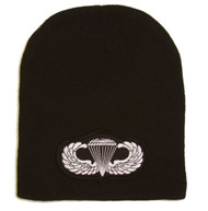 Delux Military 3D Patch Embroidery Black Beanie United States Army