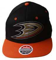 NHL Anaheim Might Ducks Zephyr Black/Orange Adjustable Hat + GT Sweat Wristband