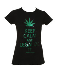 Womens Keep Calm and Legalize It Short-Sleeve T-Shirt