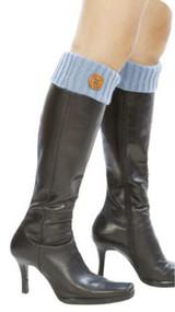 Womens Winter Knitted Leg Warmers w/ Button
