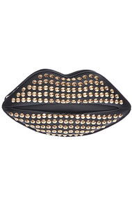 Fashion Studded Lip Clutch Bag