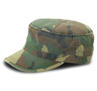 CAMO TWILL WASHED ARMY CAP - Camo