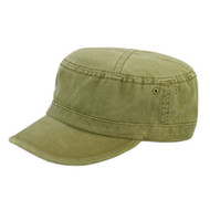 CAMO TWILL WASHED ARMY CAP - Olive