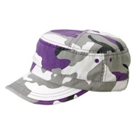 CAMO TWILL WASHED ARMY CAP - Lilac Camo