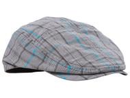 Fashion Plaid Ivy Cap - Blue