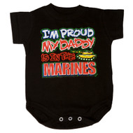 I'm Proud My Daddy Is In The Marines  Bodysuit