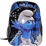 The Smurfs Black Checkered Backpack (Black)