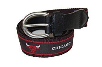 Mark Adult Canvas NBA Chicago Bulls Belt w/Buckle Closure