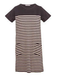 Striped Womens Mid-Dress