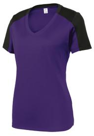 Gravity Threads Womens Sleeve-Blocked Moisture Wicking Shirt