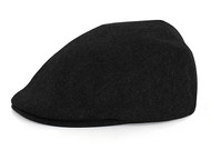 Adult Wool Blend BLACK Ivy Ascot Cabbie Cap