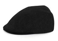 Adult Wool Blend BLACK Ivy Ascot Cabbie Cap