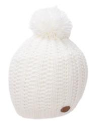 Thick Acrylic Knitted Beanie w/ Pom