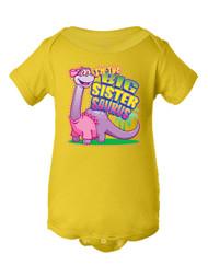 Infant I'm the Big Sistersaurus Bodysuit