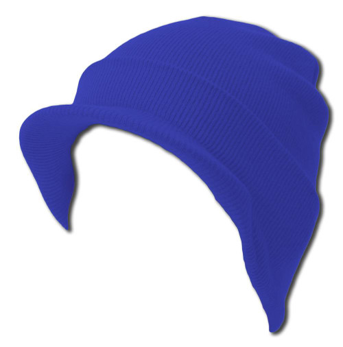 Blank Cuff Beanie Visor (Comes In Many Different Colors)- Royal Blue