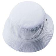 PIGMENT DYED WASHED BUCKET HAT - White Medium/Large