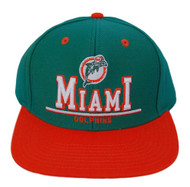 NFL Miami Dolphins 2 Tone Snapback 3D Letters Hat