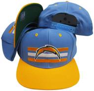 San Diego Chargers Lt Blue/Yellow Billboard Snapback Adjustable Hat / Cap