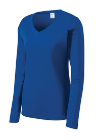 Gravity Threads Womens Long-Sleeve Moisture-Wick V-Neck