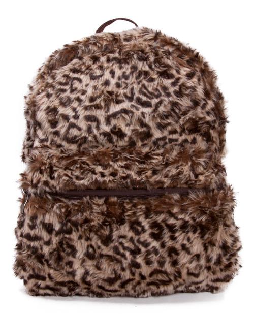 Faux Fur Animal Print Backpack