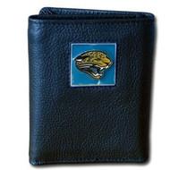 Jacksonville Jaguars NFL Leather & Nylon Tri-Fold Wallet
