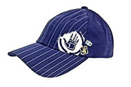 Body Glove Brand Cotton Hat - Navy Blue Striped