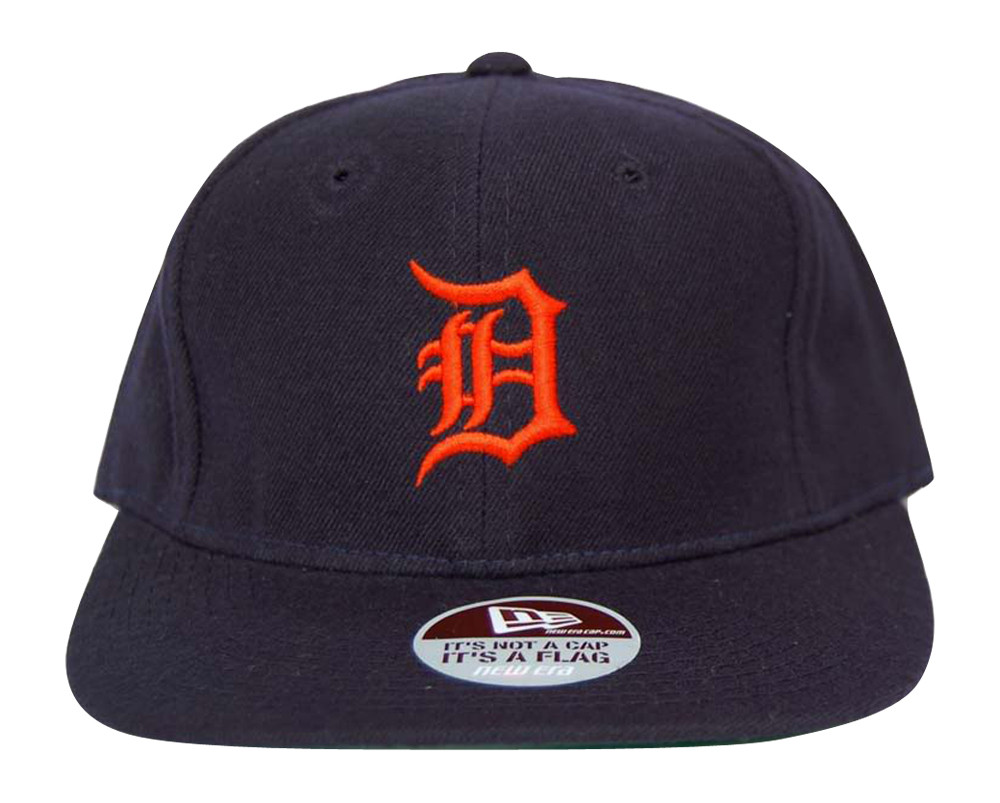 35ffc7d3260 MLB Detroit Tigers New Era Diamond Collection Navy Orange Print Fitted Hat  Cap - Gravity Trading