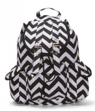 Chevron Print Rucksack Style Backpack
