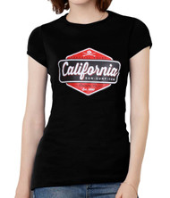 California Sun Surf Fun Womens Short-Sleeve T-Shirt