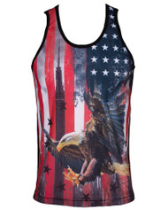 Mens Hip Hop Sublimated Graphic Tank Top Shirt