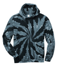 Gravity Threads Mens Tie-Dye Pullover Hoodie Sweater