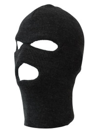 Face Ski Mask 3 Hole (9 Colors Available), Black S/M