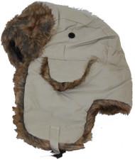 Winter Faux Fur Flight Trooper Aviator Snow Hat - Khaki