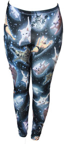 Cute Space Kitten Ladies Leggings