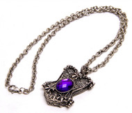 Corset Locket Necklace - Purple