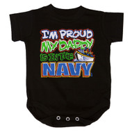 I'm Proud My Daddy Is In The Navy Bodysuit