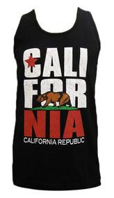 Mens California Republic Bear Logo Tank Top
