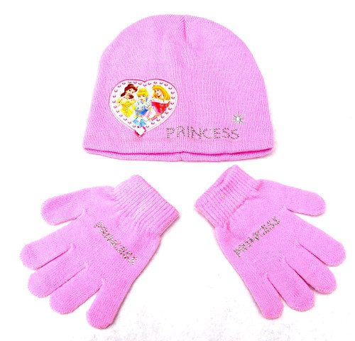 Disney Princess Youth Beanie and Gloves Combo