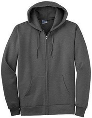 New Company Blank Zip- Up Hoodies, S Charcoal