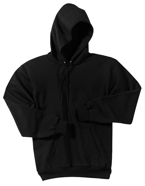 Men's Basic hooded pull over (3 Colors) (X-Large, Black)