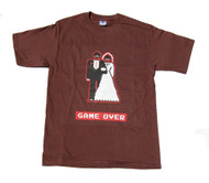 Game Over Wedding Video Game Character Cotton T-Shirt