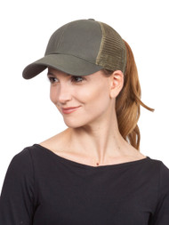 Pony Tail Outlet Mesh Adjustable Hat