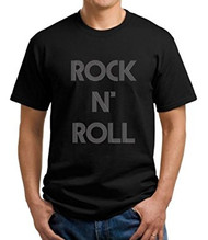 Rock N' Roll Fitted Black T-Shirt