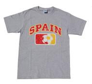 Spain Country Futbol Cotton T-Shirt - Grey